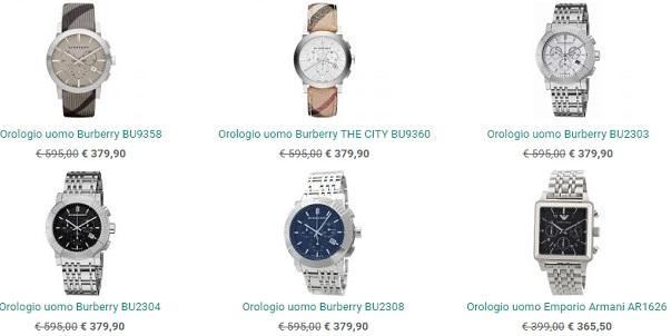 I fantastici prezzi del catalogo orologi da uomo di Nandida