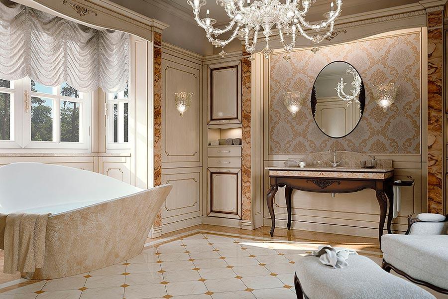 arredare un bagno in stile classico ed elegante make up